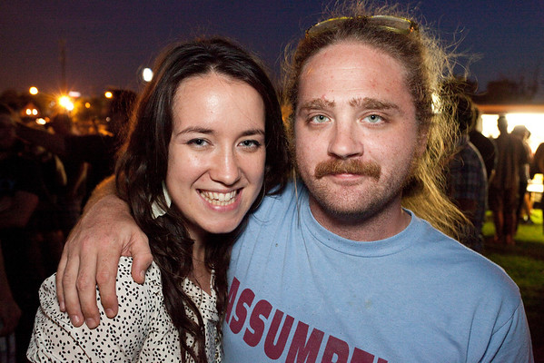 Amber Smith and John King know how to party.