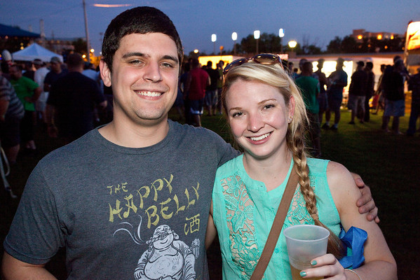 Bradley Clarke and Whitney Walzem take in the sights and sounds.