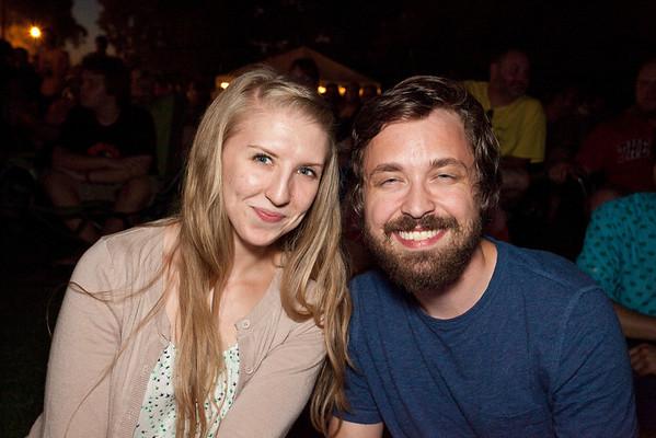 Melissa Clark and Ben Hamilton were all smiles.