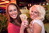 Carrissa Eichler and Courtney Eaton share a cone.