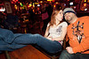 Ashlee Edwards and Jason Murrell get comfortable in the Saloon.