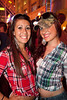 Jaimee McCullough and Paige Wilkerson dress the part for a Hot Country Night.