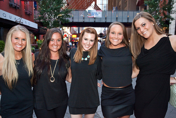 Kristin Moore, Courtney Spencer, Lindsay Cobble, Madi Daily, and Brooke Daily were part of a bachelorette party on the move.