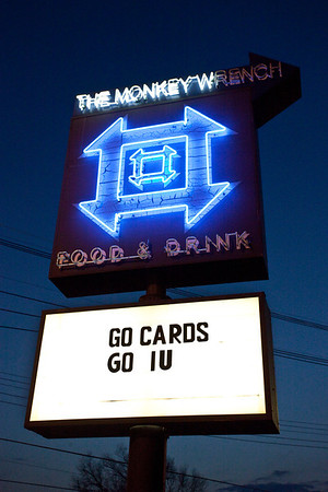 The Monkey Wrench plays home to local Cards fans year round, and has the benefit of an upper deck for nicer weather.