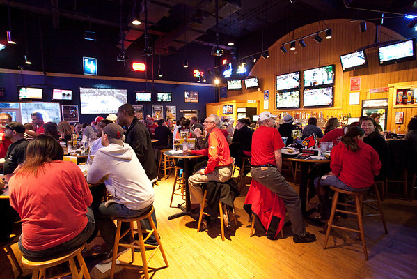 BW3's on Bardstown Road drew a more family element for the game.