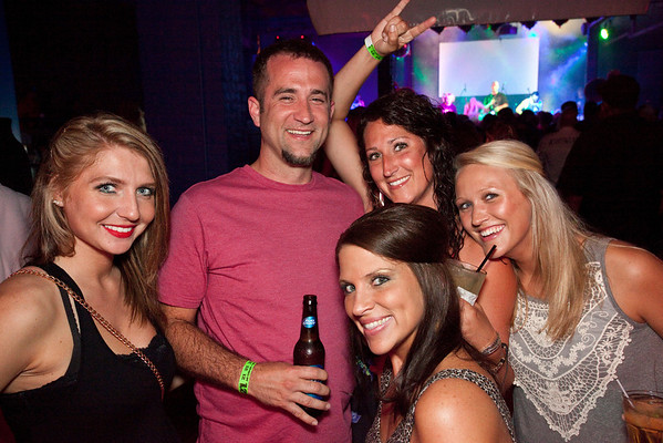 Let the good times roll with Amber Haymaker, Rod Bates, Ashley Mattingly, Kelly Bates and Kelsey Powell.