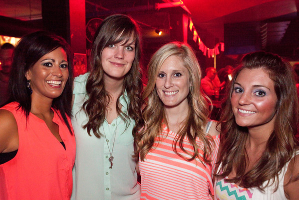 Brianna Alls, Katy Crossley, Kayla Greenup, and Rebecca Russell came to party.