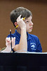 Twenhofel Middle School academic Aaron Anderson concentrates on the question.