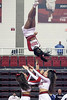 The high-flying, high-energy routines of the UofL Cheer and Dance teams were on full display at Cardinal Arena Monday night. The public event served as a preview of performances for the upcoming Nationals.