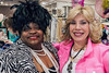 Hat designer Judy Sharpe poses with Rodeo Drive owner Raquel Koff after being announced the winner of one of the drawings.