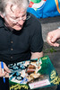 Songwriter John Sebastian honors an autograph request with pleasure.