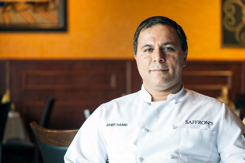 Chef Hamid Alamdari of Saffron's at 131 West Market Street.