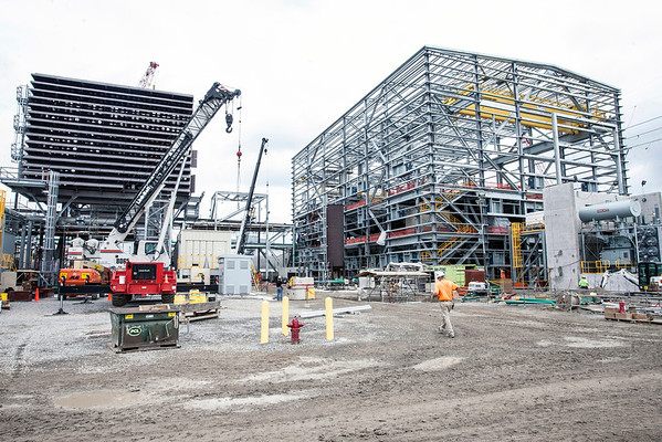 Construction is under way at the LG&E Cane Run Generating Plant as the less eco-friendly coal plant is replaced with a natural gas plant. The completion is planned for Spring 2015.