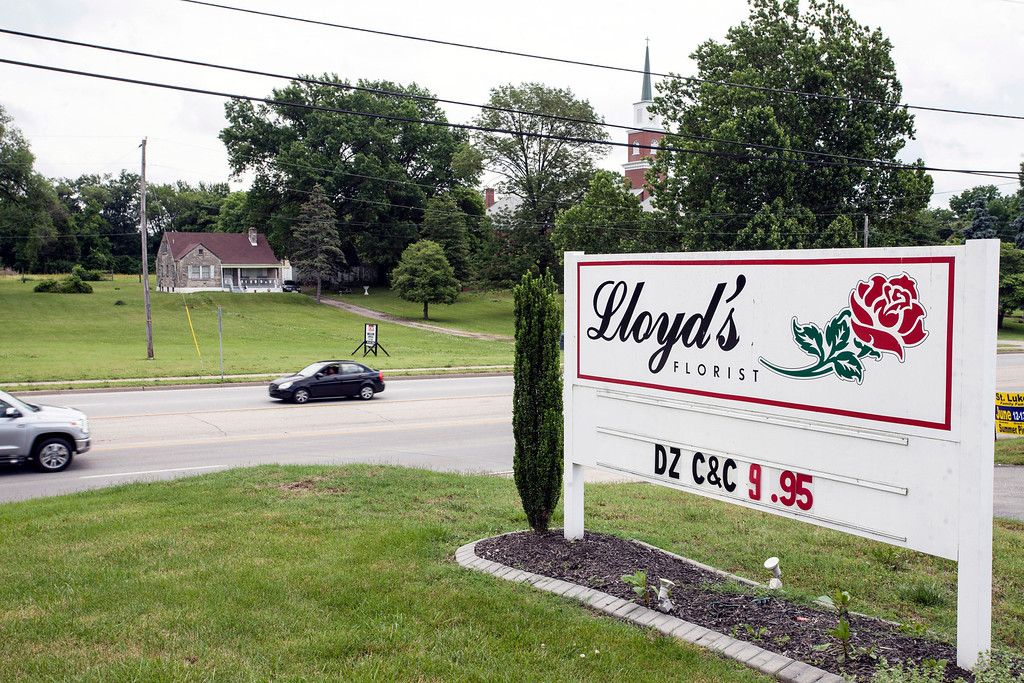 Lloyd's Florist at 9216 Preston Highway is the only small business in the mostly residential area of proposed zoning changes.