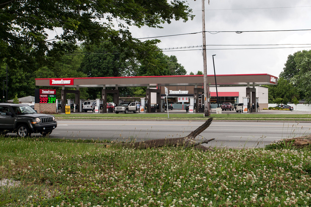 Thorntons Gas is currently the only 24-hour business situated in the proposed area for zoning changes that begins at Miles Lane to the North and continues South to the Gene Snyder Freeway along Preston Highway.