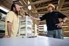 Vendors Allen Mobley and Greg Westenhofer talk shop.