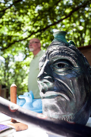 """""""Antiques and Uniques"""" was the theme of a well-attended flea market at Farmington Historic Home on Sunday as families enjoying the weather and Father's Day perused a variety of curios and oddities for sale."""