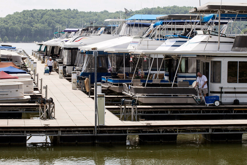 The Taylorsville Marina is one of several businesses situated on the lake that could be effected by the outcome of the toxic algae testing.