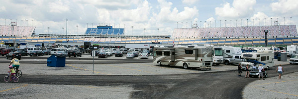 The massive infeld of Kentucky Speedway showed signs of life as early arrivals established campgrounds and took in the sights.