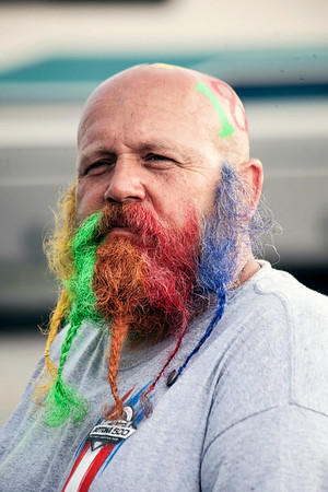 Bradford, OH native Curt Jones shows his true colors on Day 2 of NASCAR racing at the Kentucky Speedway in Sparta.