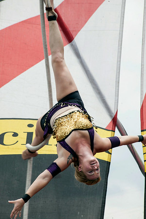 The Cincinnati Big Circus was also a hit with spectators in the Fan Zone.