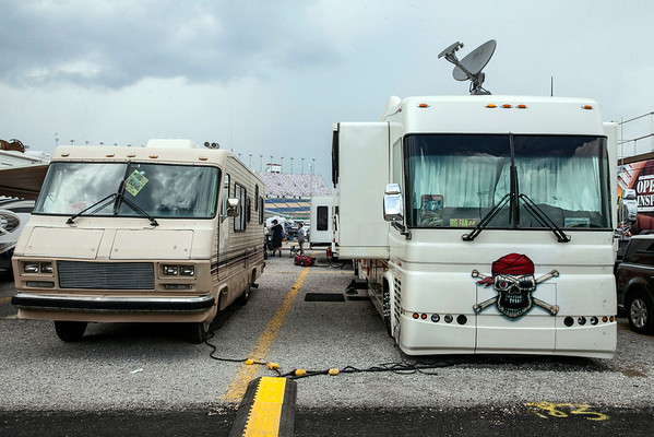 A mix of old and new defined the population of the caravan and RV heavy infield.
