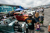 A vintage car show was a crowd favorite in the infield's Fan Zone.