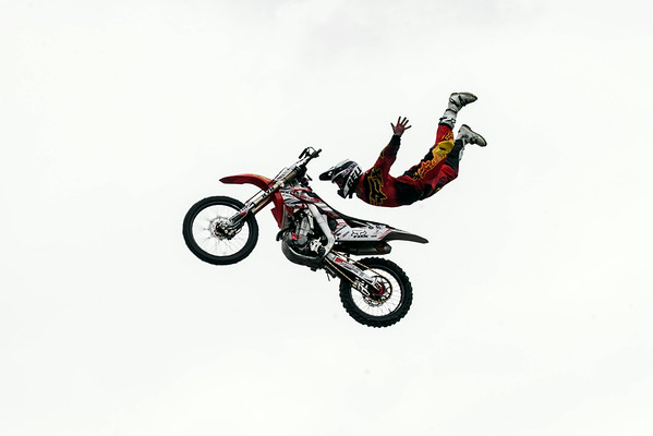 Members of the Keith Sayers Freestyle Motorcross Exhibition wowed the spectators in the Fan Zone.