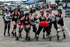 The Derby City Roller Girls put on an exhibition match for interested fans.