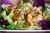 Yam Talay is a seafood salad with shrimp, squid and scallops.