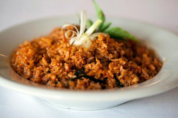 Khao Pad Kraproa is a Thai-styled fried rice with pork.