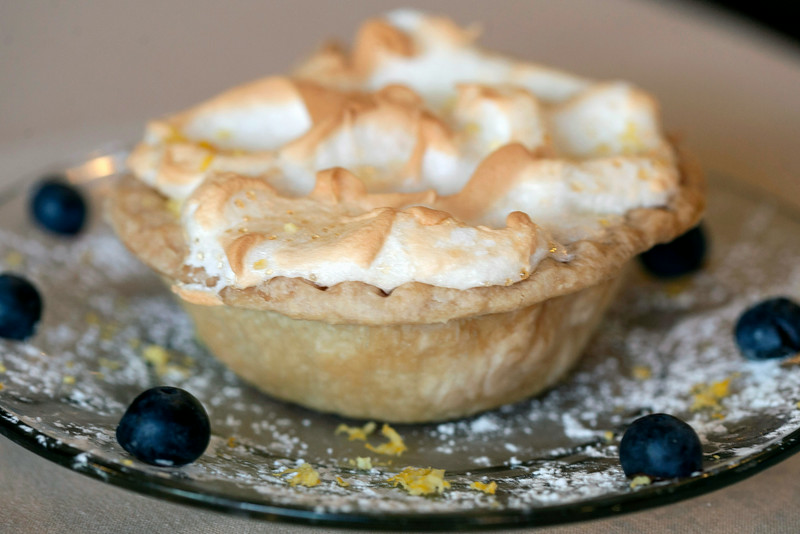 The Lemon Meringue Pie is one of several dessert items made fresh.