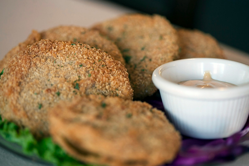 The Fried-Green Tomatoes at J. Harrod's are a popular item.