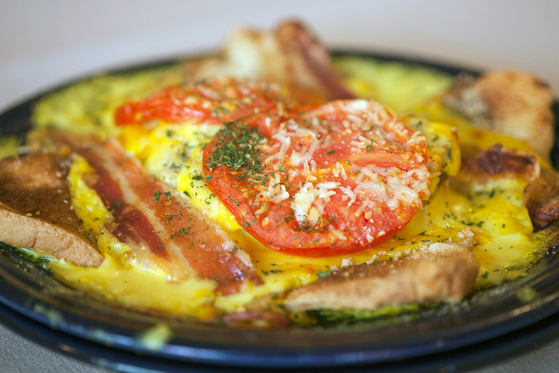 The Hot Brown at J. Harrod's features fresh turkey processed on site.