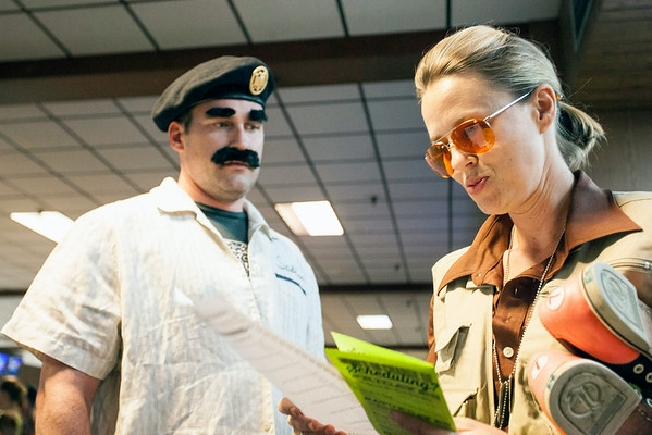 Saddam seemed a bit bothered by lady Walter.