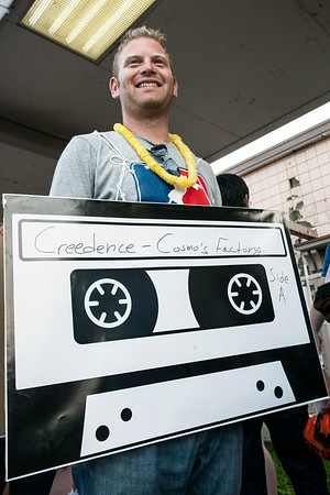 Omri Ginzburg of Israel created his costume after arriving in Louisville for the 13th Annual Lebowski Fest.