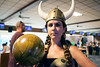 Jessica Knecht was ready for some bowling.