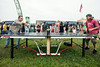 A ping-pong table was drawing regular participation from the Forecastle fans.