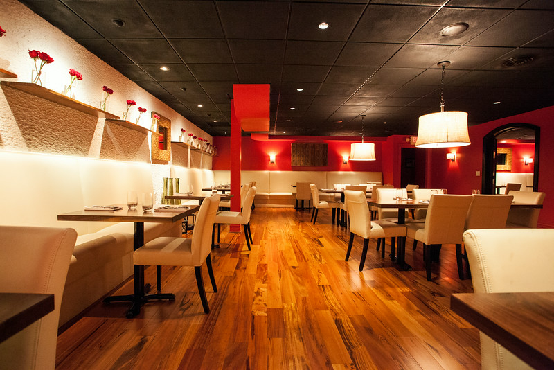 Its location may be subterranean, but The Place Downstairs employs warm colors throughout lending a lounge feeling to the atmosphere.