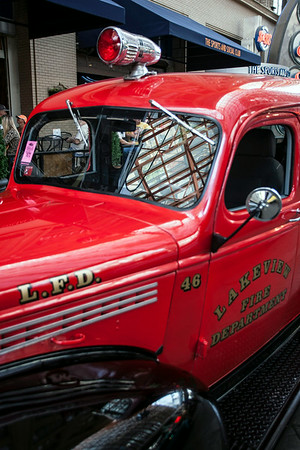 A classic fire truck was among the more traditional Street Rods.