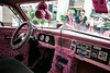 The Pink Lady-Grease Street Rod was a crowd favorite when it came to selfie composition and interior gawking.