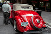 Street Rod enthusiasts snap shots and take closer looks at the impressive collection of vintage vehicles on display.