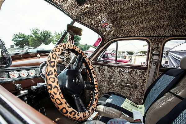 With a heavy cheetah theme going for it, Louisvillian Debbie Howell's 1948 Chevrolet Fleetmaster was a crowd favorite.