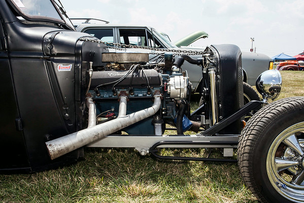 Richard Bower's 1943 Chevrolet boasted an impressive exhaust system.