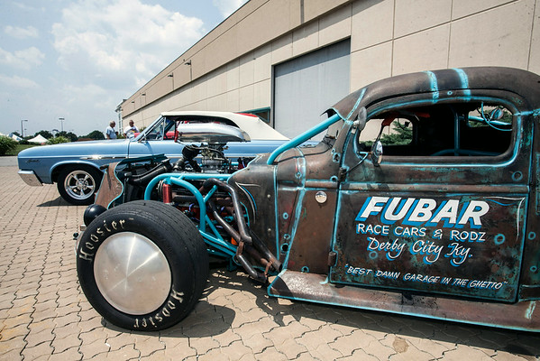 """The 1935 Chevrolet """"Fubar"""" owned by Louisvillian Robert Puckett was rich in unique details."""