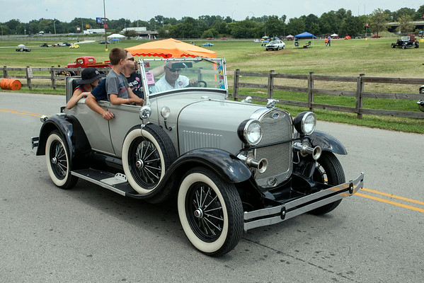 Owners cruised around the Fairgrounds with a peacock's flair.