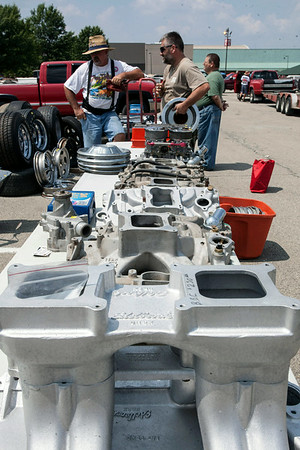 A swap-meet allowed street rod owners the chance to purchase rare parts.