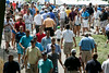 By noon on Thursday, the crowds at Valhalla were in a full surge as fans took in the opening round action of the 2014 PGA Tournament.