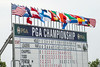 A multitude of nations were being represented with flags above the leaderboard.