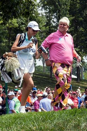 PGA legend John Daly prepares to take his next swing.